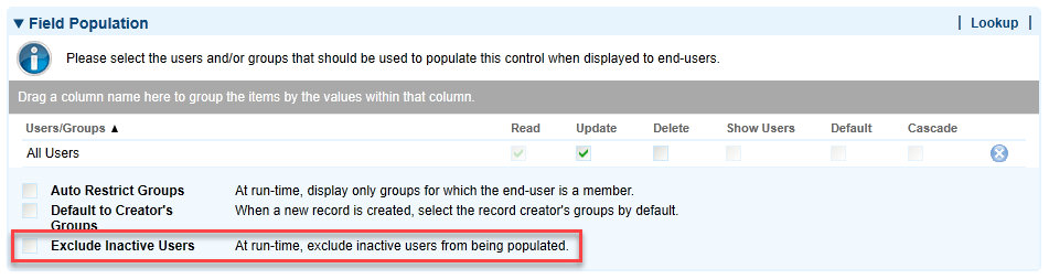 Exclude Inactive Users
